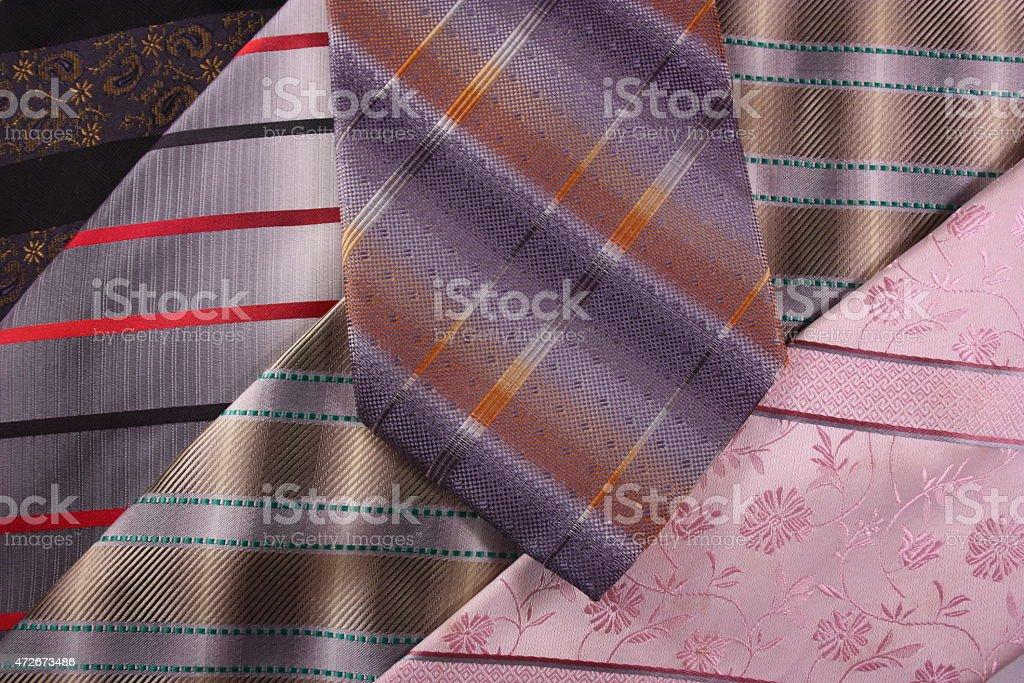 Multicoloured neckties stock photo