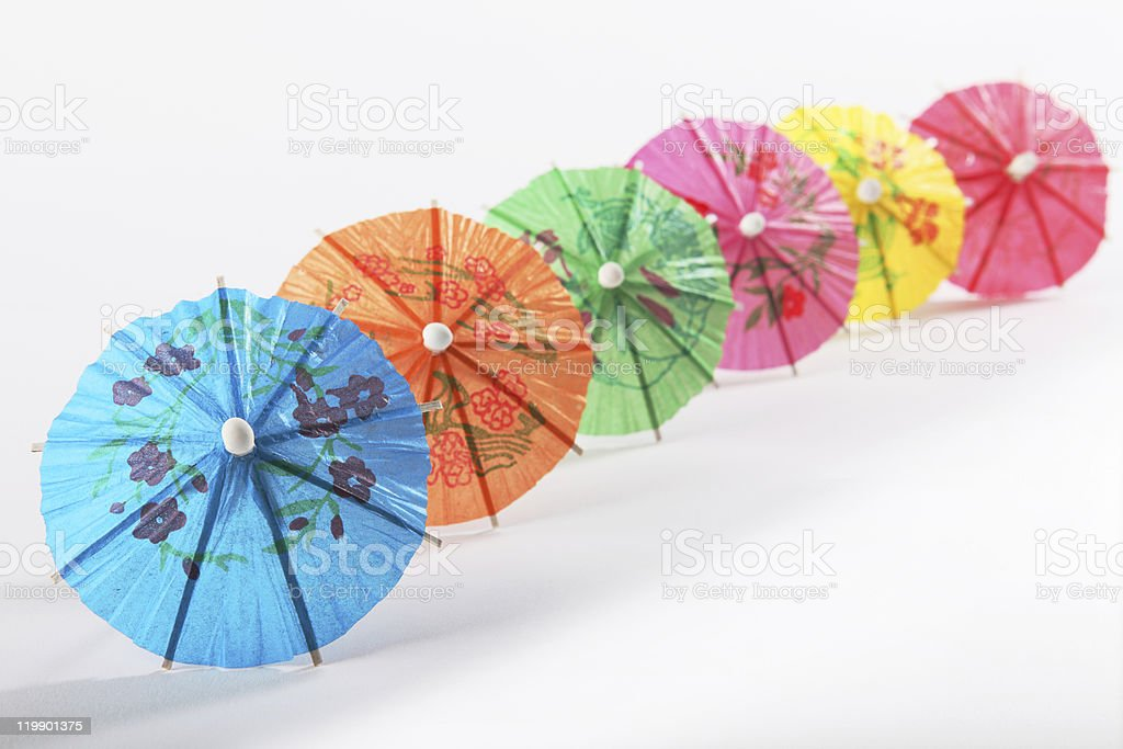 multicoloured paper umbrellas royalty-free stock photo