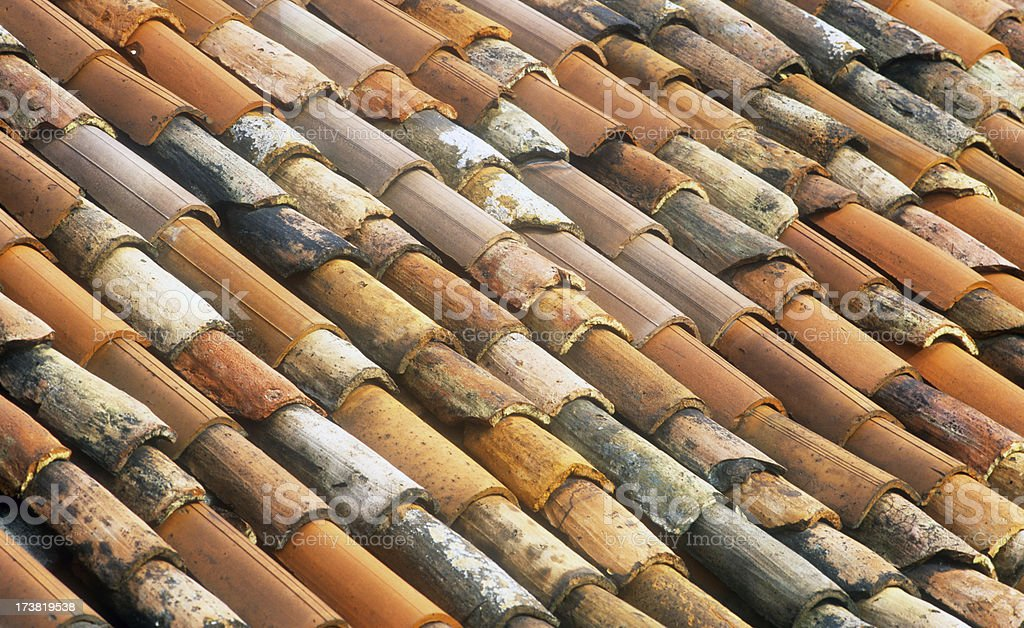 Multicoloured Roof Tiles stock photo