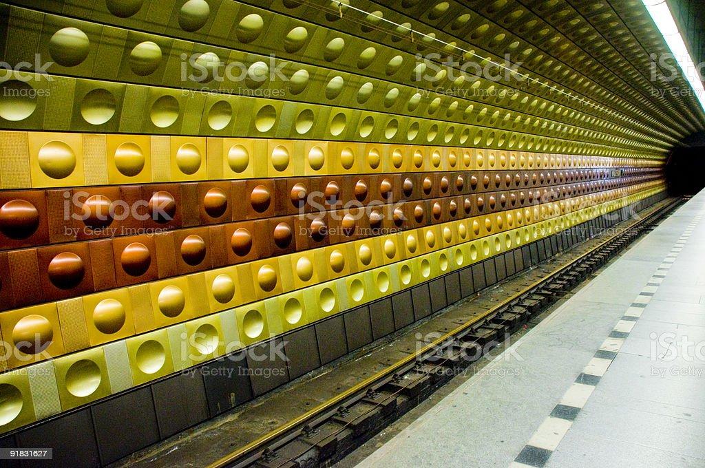 Multicoloured Tube Station to Infinity Background royalty-free stock photo