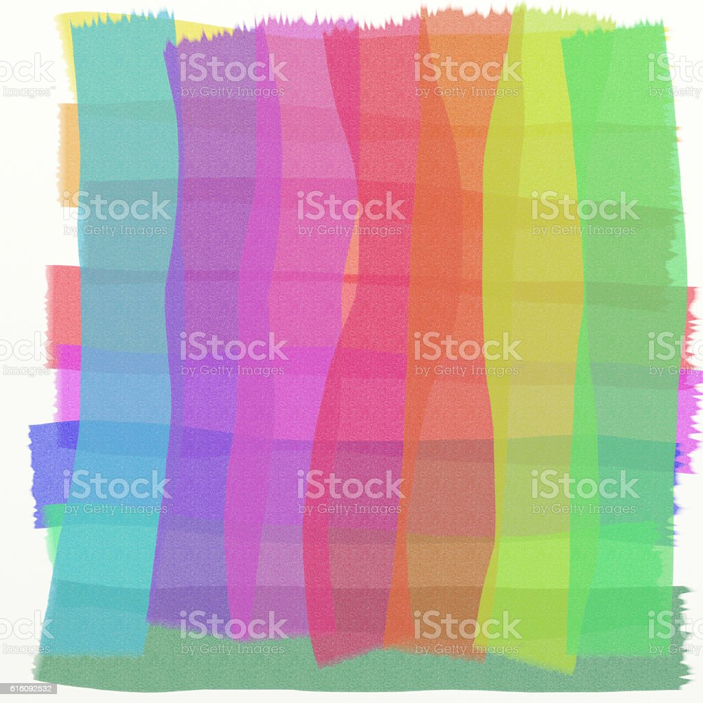 Multicoloured watercolours in scrumbled hatched streaks stock photo