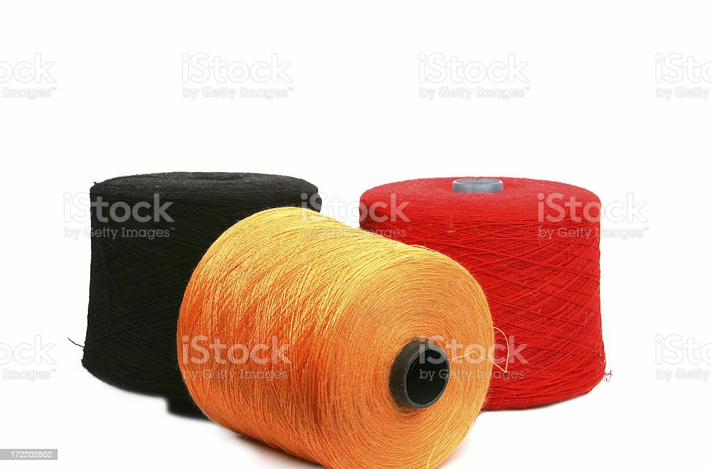Multi-coloured yarn for knitting machines royalty-free stock photo