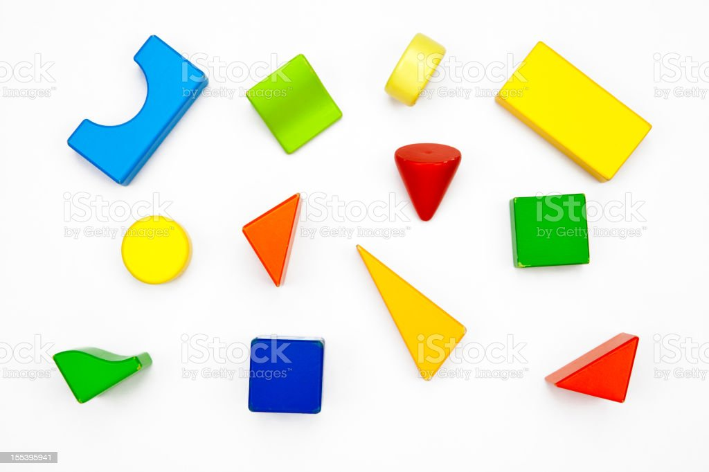 Multicolured toy wood pieces royalty-free stock photo