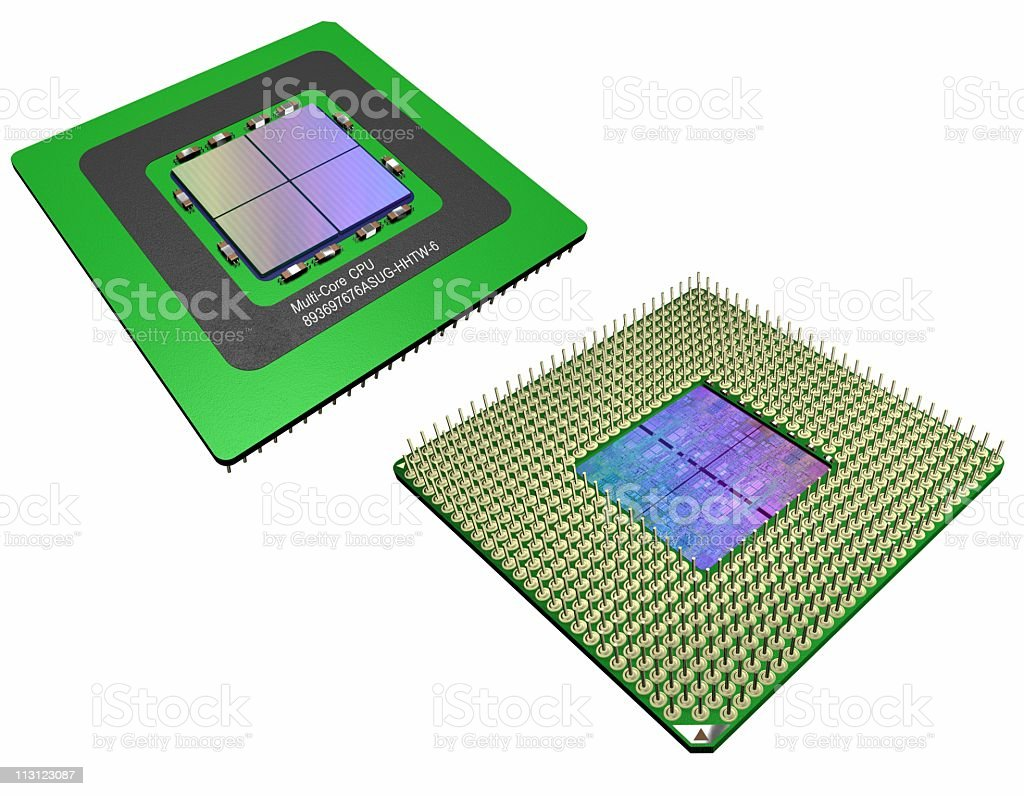 MultiCore CPU Generic (Isolated) royalty-free stock photo