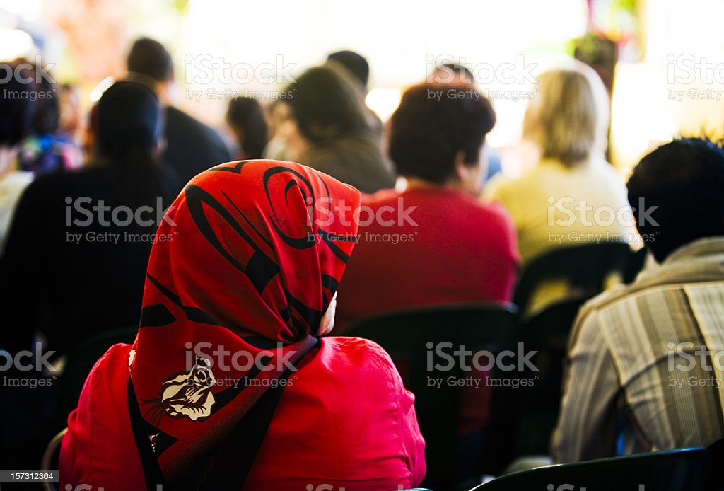 Multicultural audience royalty-free stock photo