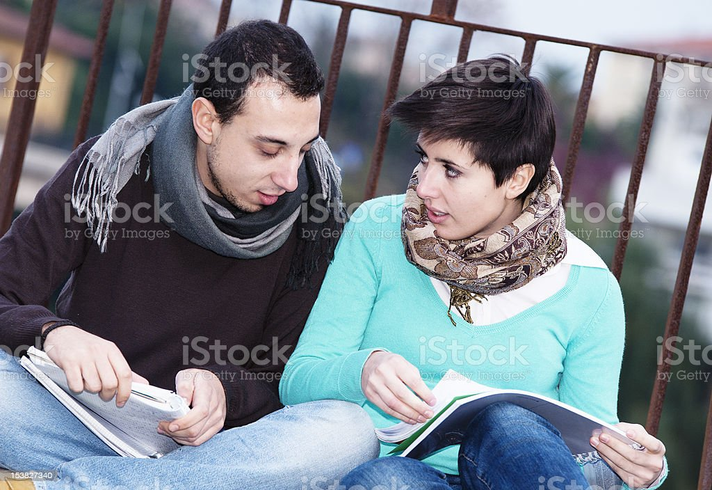 Multicultural College Students royalty-free stock photo