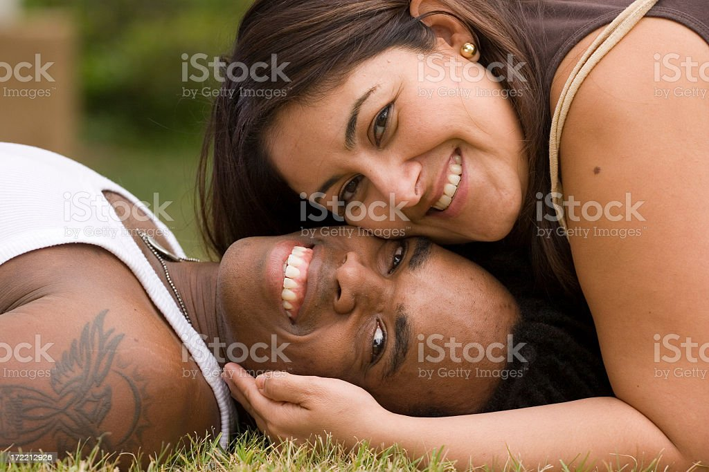 multicultural Couple stock photo