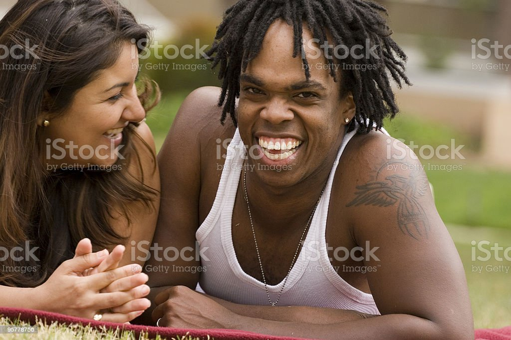 Multicultural Couple royalty-free stock photo