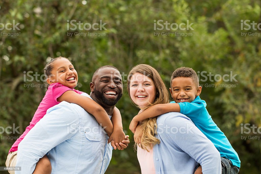 Multicultural Family stock photo