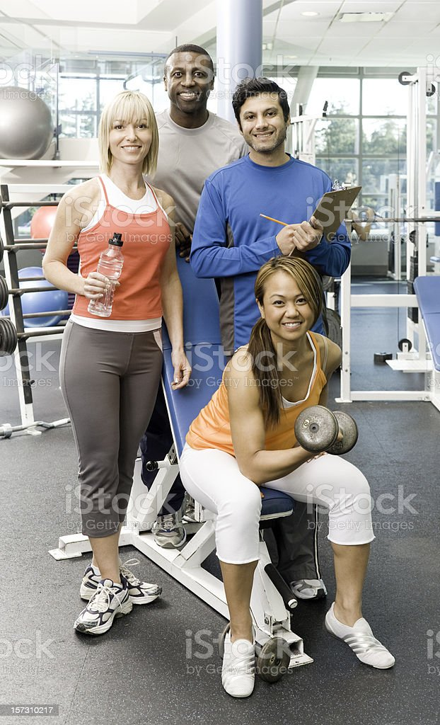 Multicultural Fitness Lovers royalty-free stock photo