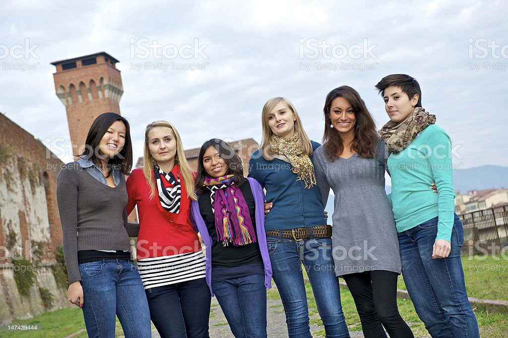 Multicultural Group of Woman royalty-free stock photo