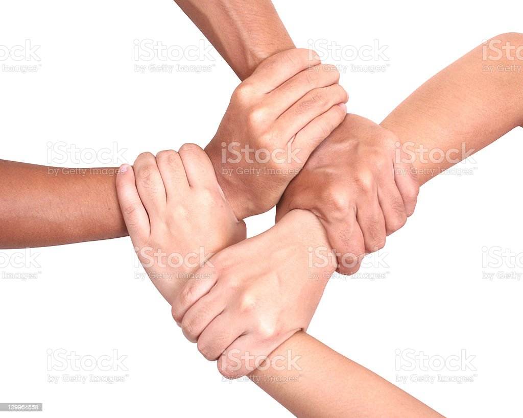 Multicultural hands royalty-free stock photo