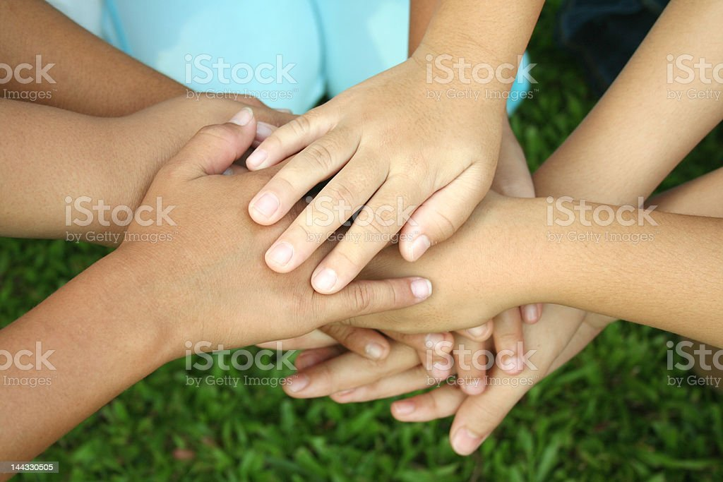 Multicultural hands(series) royalty-free stock photo