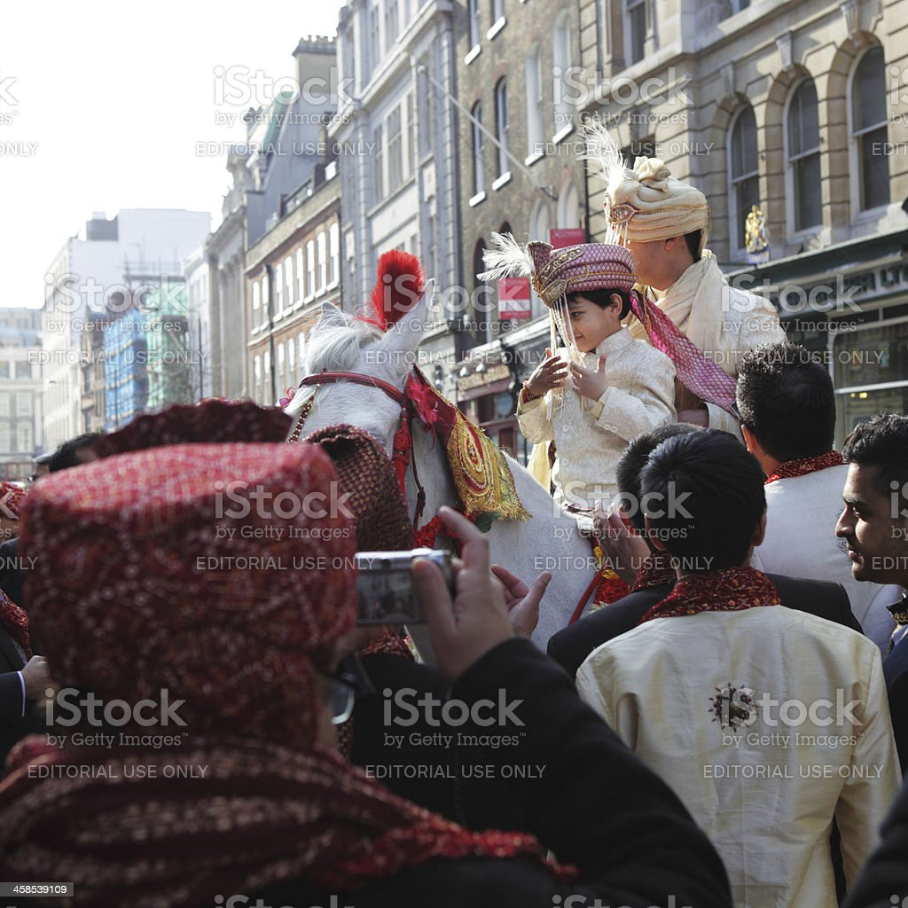 Multi-Cultural London, Indian Asian Wedding stock photo
