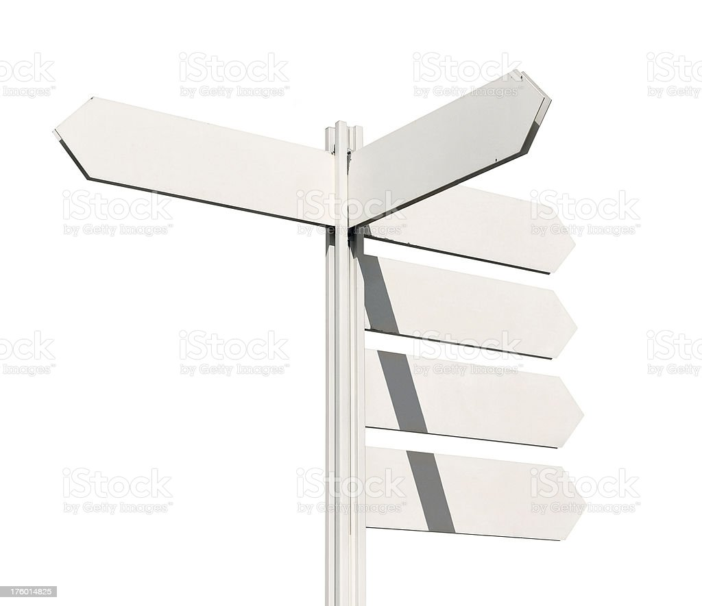Multidirectional sign royalty-free stock photo