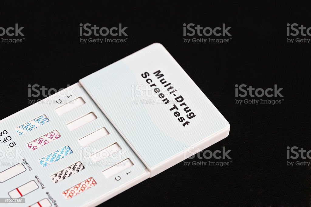 Multi-drug screening kit for testing urine royalty-free stock photo