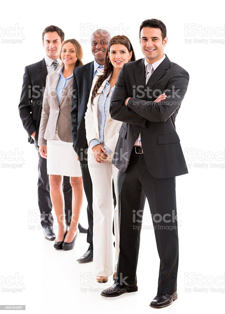 Multiethnic business group stock photo