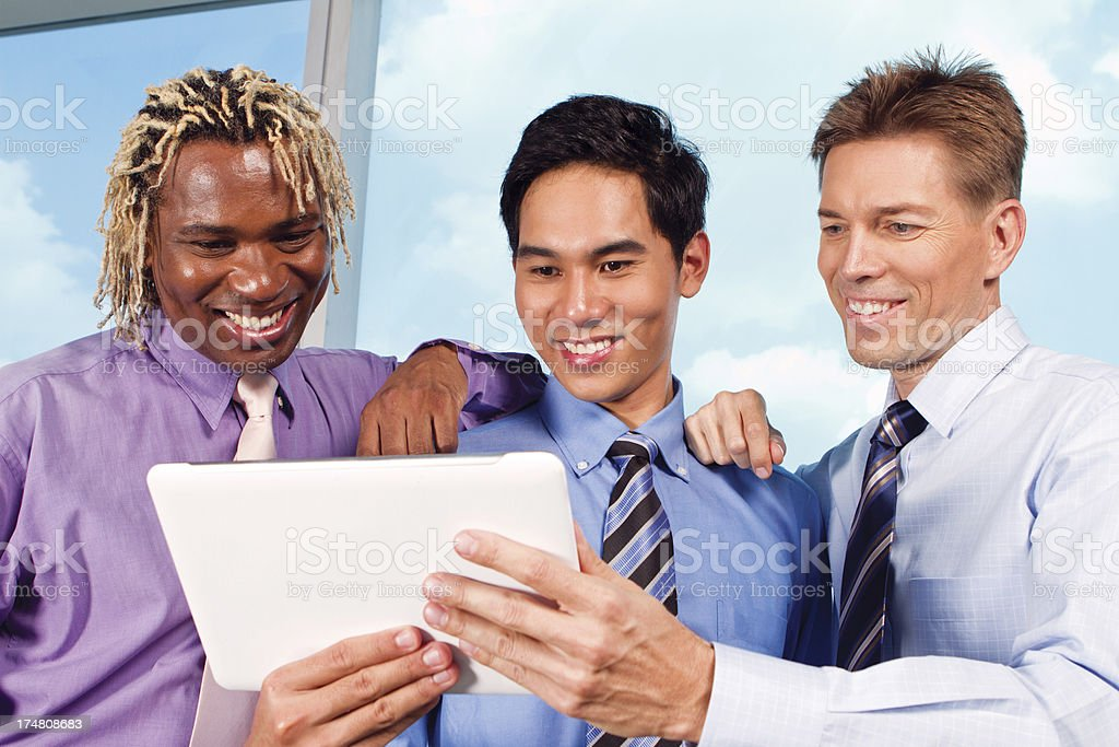Multi-Ethnic business managers stock photo