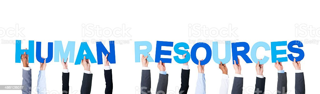Multiethnic Business People Holding Human Resources stock photo