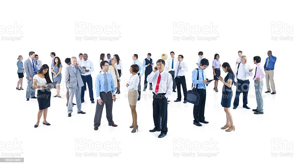 Multi-ethnic business people royalty-free stock photo