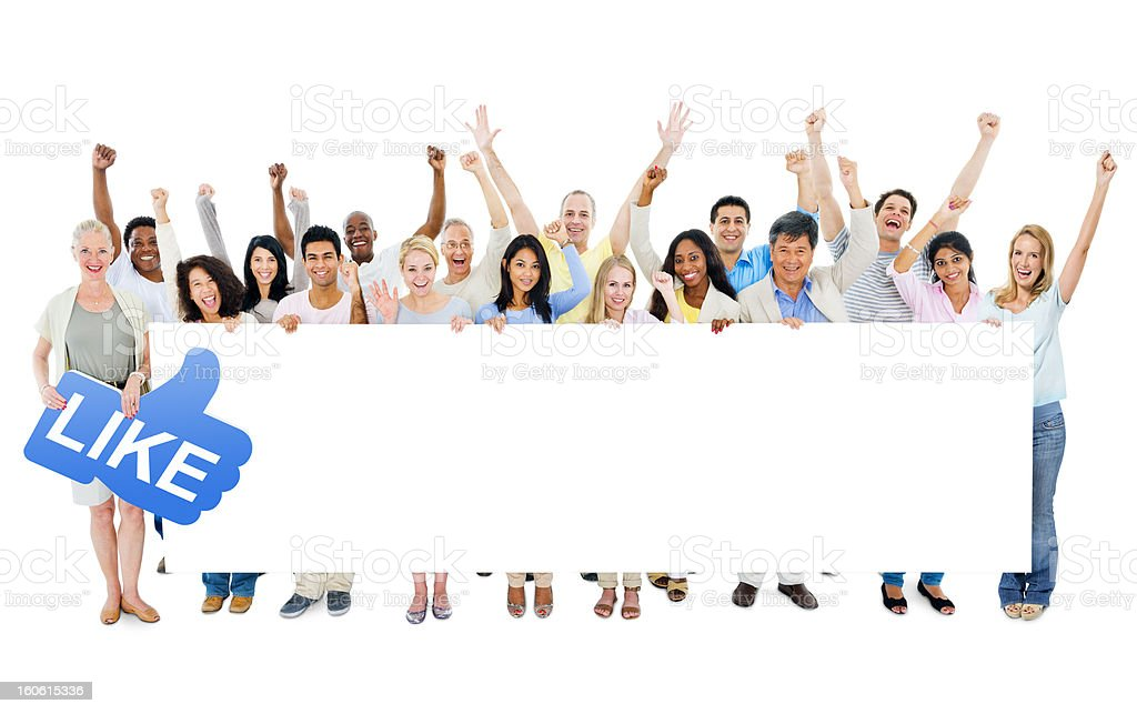Multi-ethnic casual people royalty-free stock photo