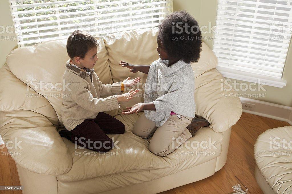 Multi-ethnic children playing stock photo