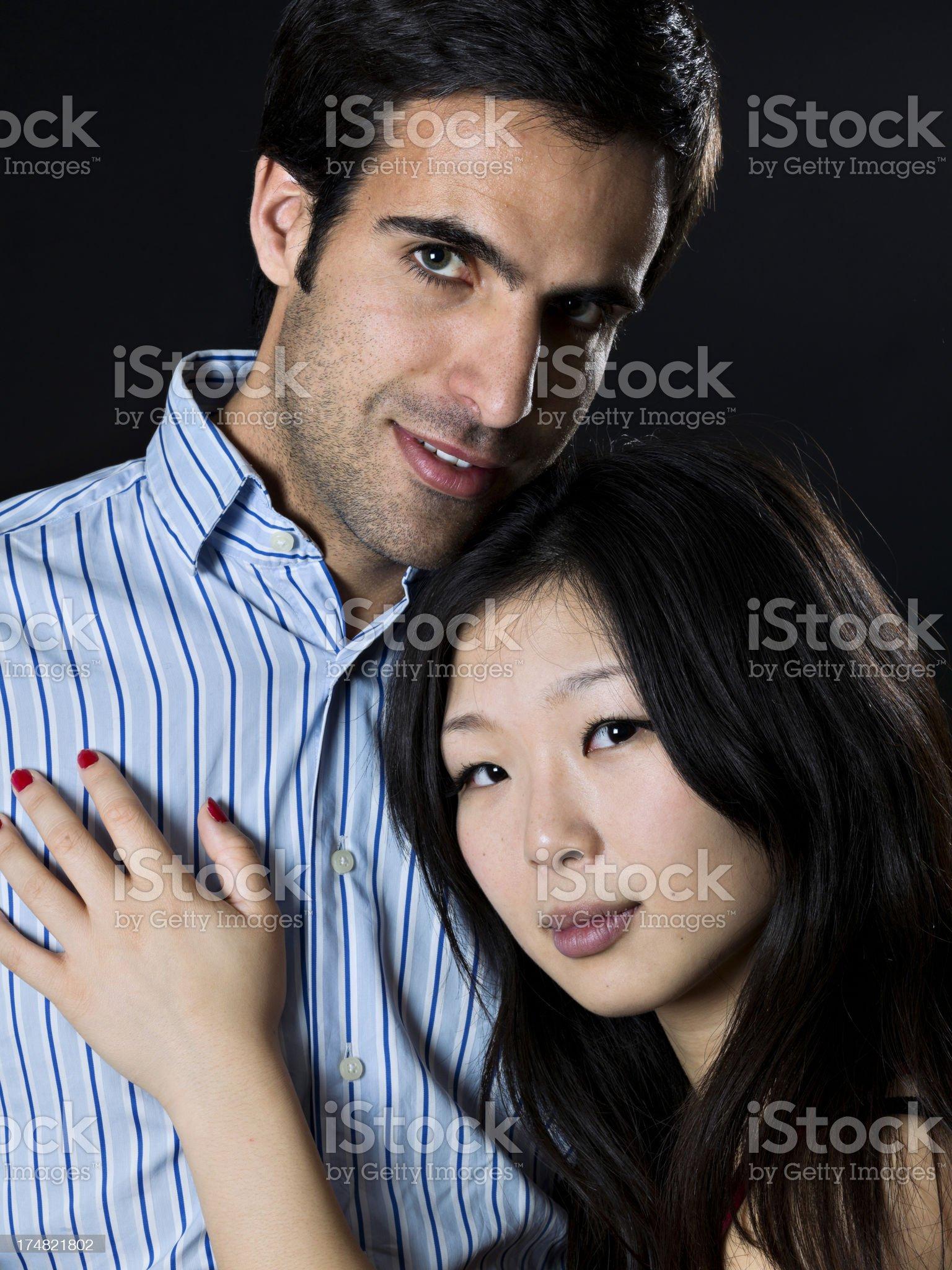 Multi-Ethnic couple royalty-free stock photo