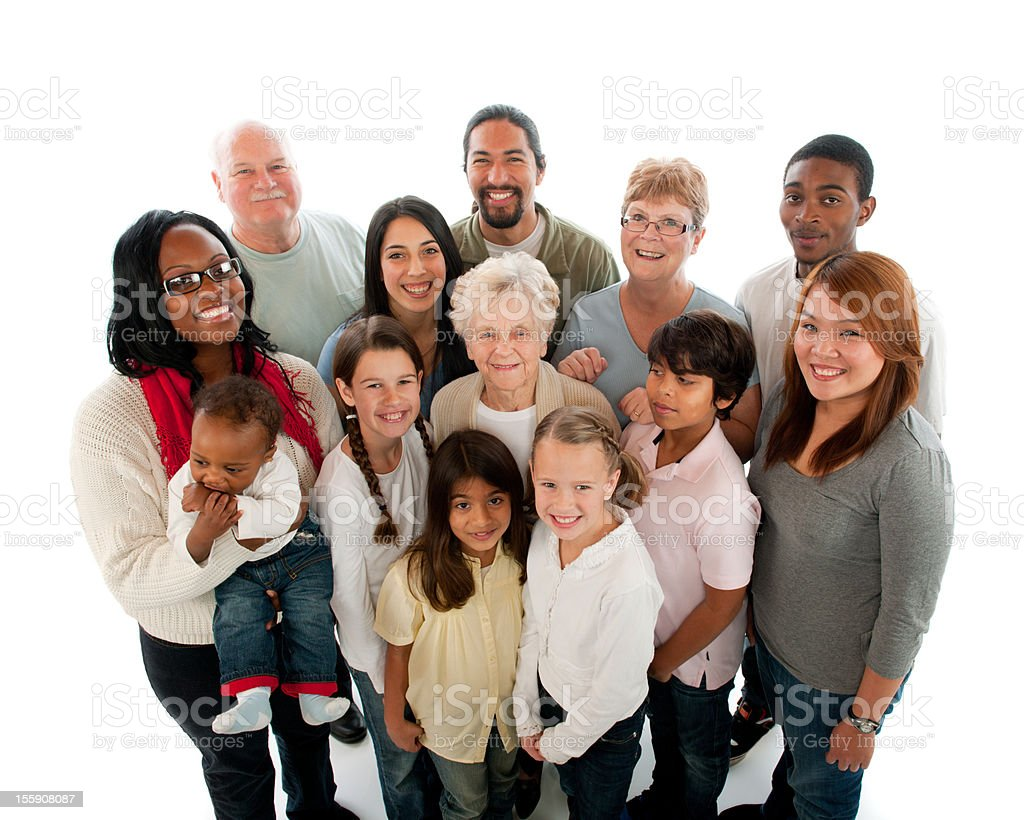Multiethnic diverse generation group of people royalty-free stock photo