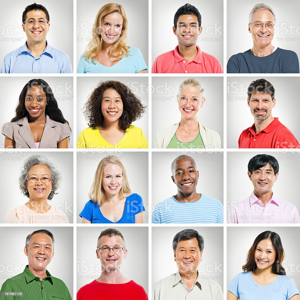 multi-ethnic face royalty-free stock photo