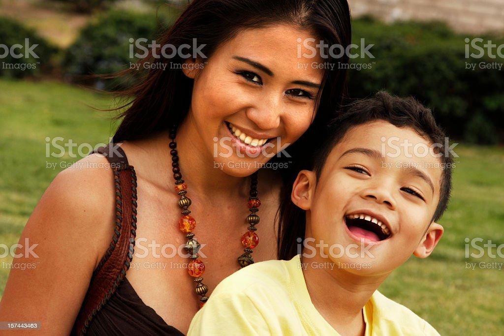 Multiethnic Family stock photo