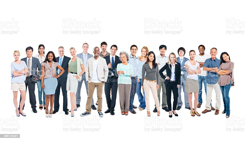 Multi-Ethnic Group Of Business And Casual People Posing stock photo