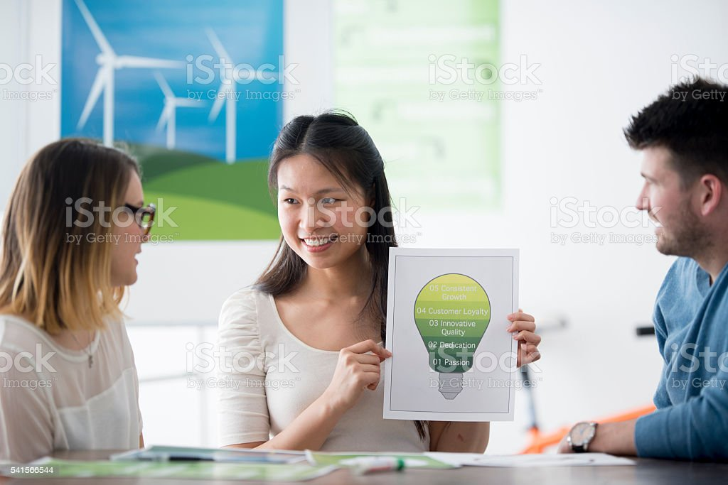 A multi-ethnic group of business associates are in stock photo