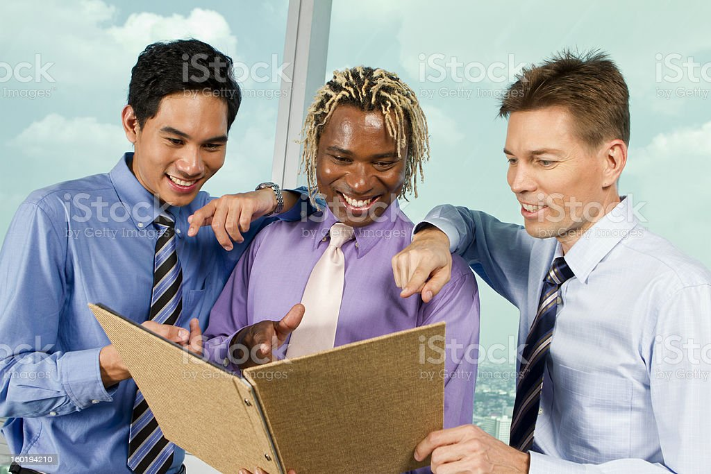 Multi-Ethnic group of business men royalty-free stock photo