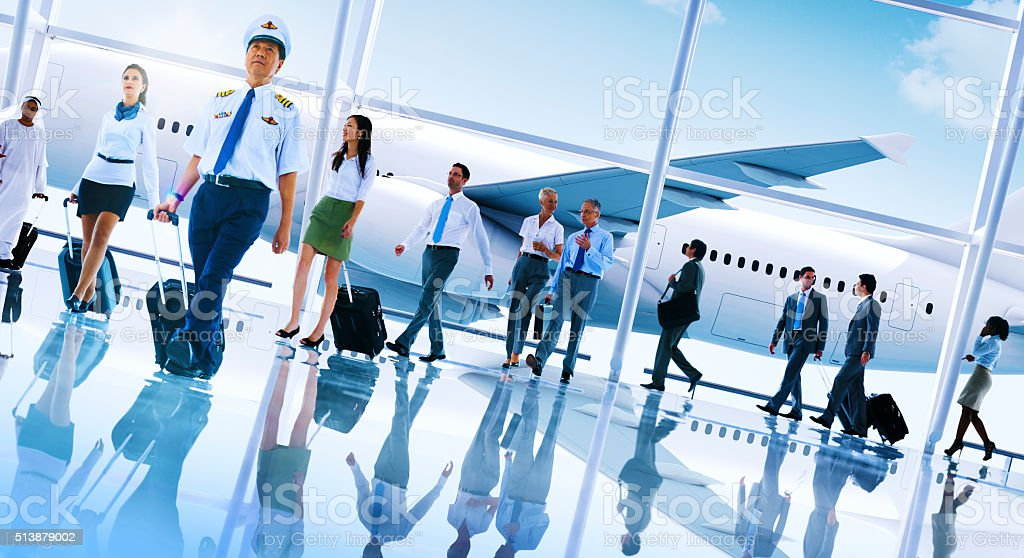 Multiethnic Group of Business People Airport Concept stock photo