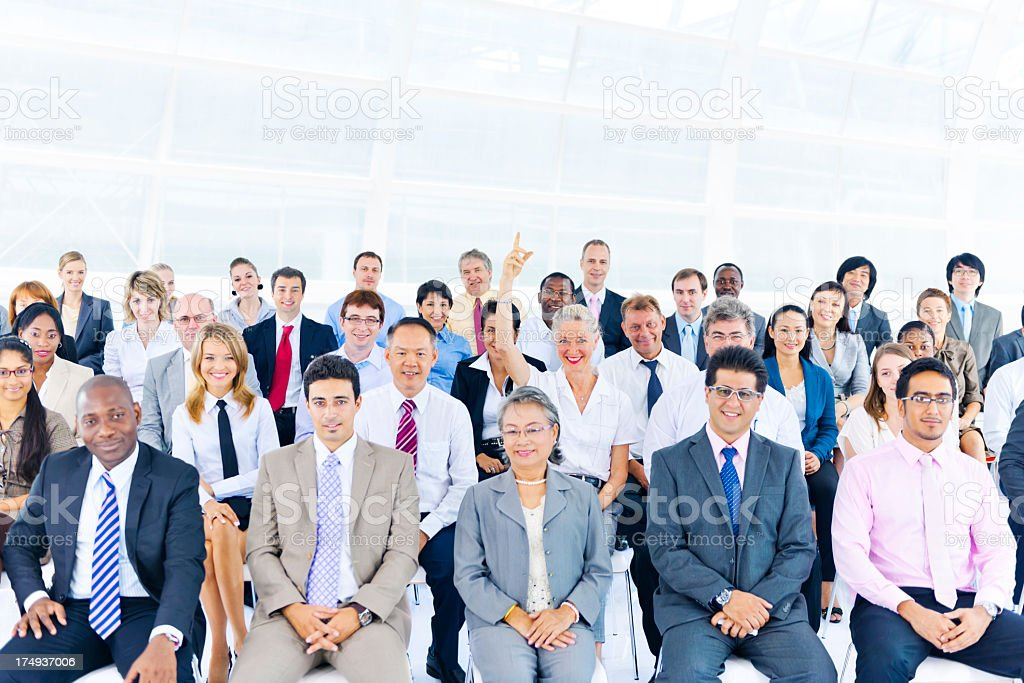 Multi-ethnic group of business people royalty-free stock photo