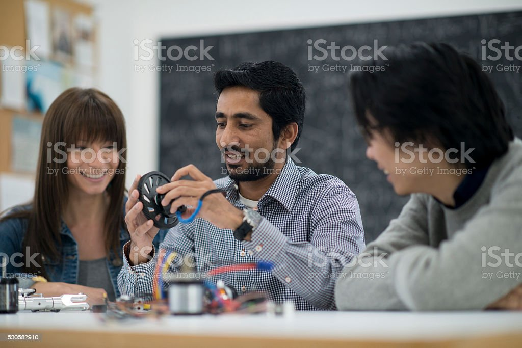 A multi-ethnic group of business professionals are stock photo