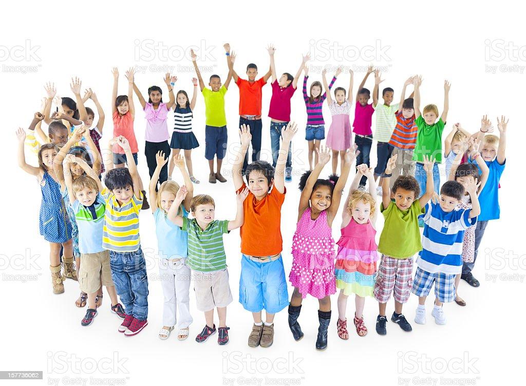 Multi-Ethnic group of children royalty-free stock photo