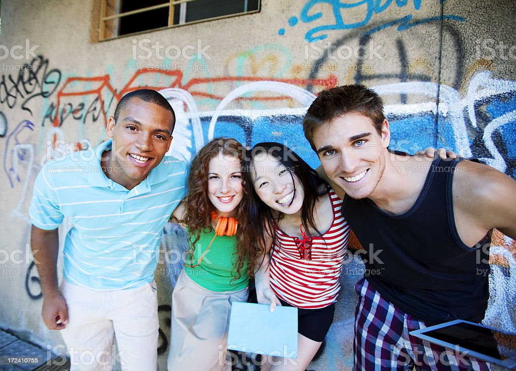 Multiethnic Group of Friends royalty-free stock photo