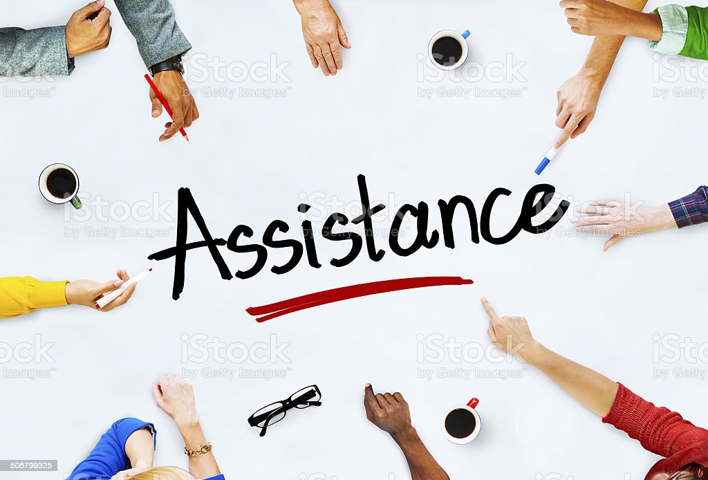 Multiethnic Group of People and Assistance Concepts royalty-free stock photo