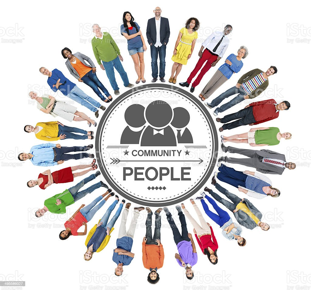 Multiethnic Group of People and Community Concept stock photo