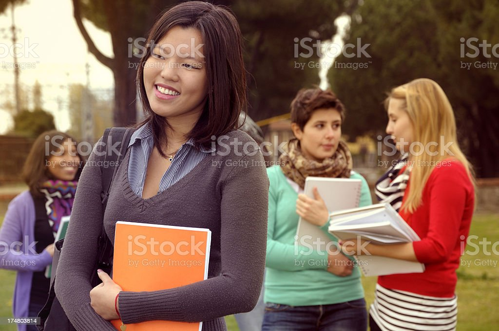 Multi-Ethnic Group of People in a Campus royalty-free stock photo
