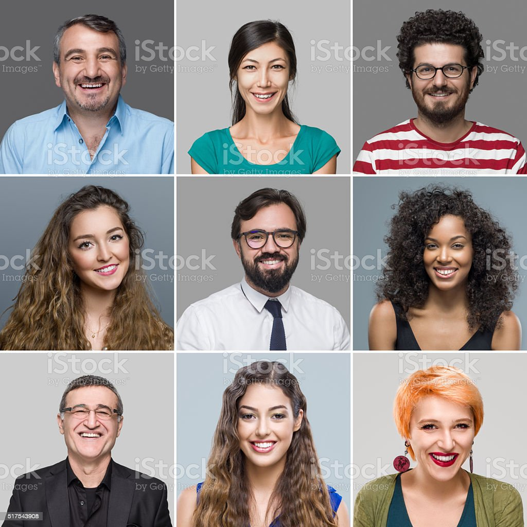 Multi-Ethnic Group Of People stock photo