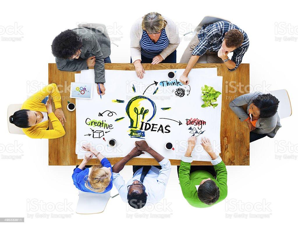 Multiethnic Group of People Planning Ideas stock photo