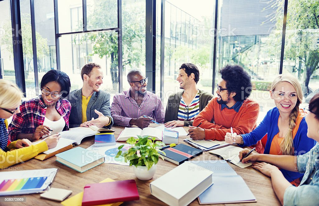 Multiethnic Group of People Working Together stock photo