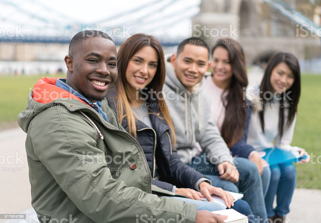 Multi-ethnic group of students stock photo