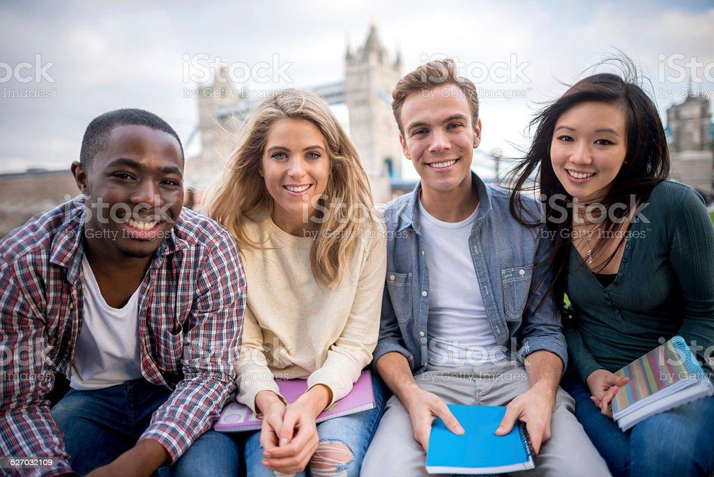 Multi-ethnic group of students stock photo
