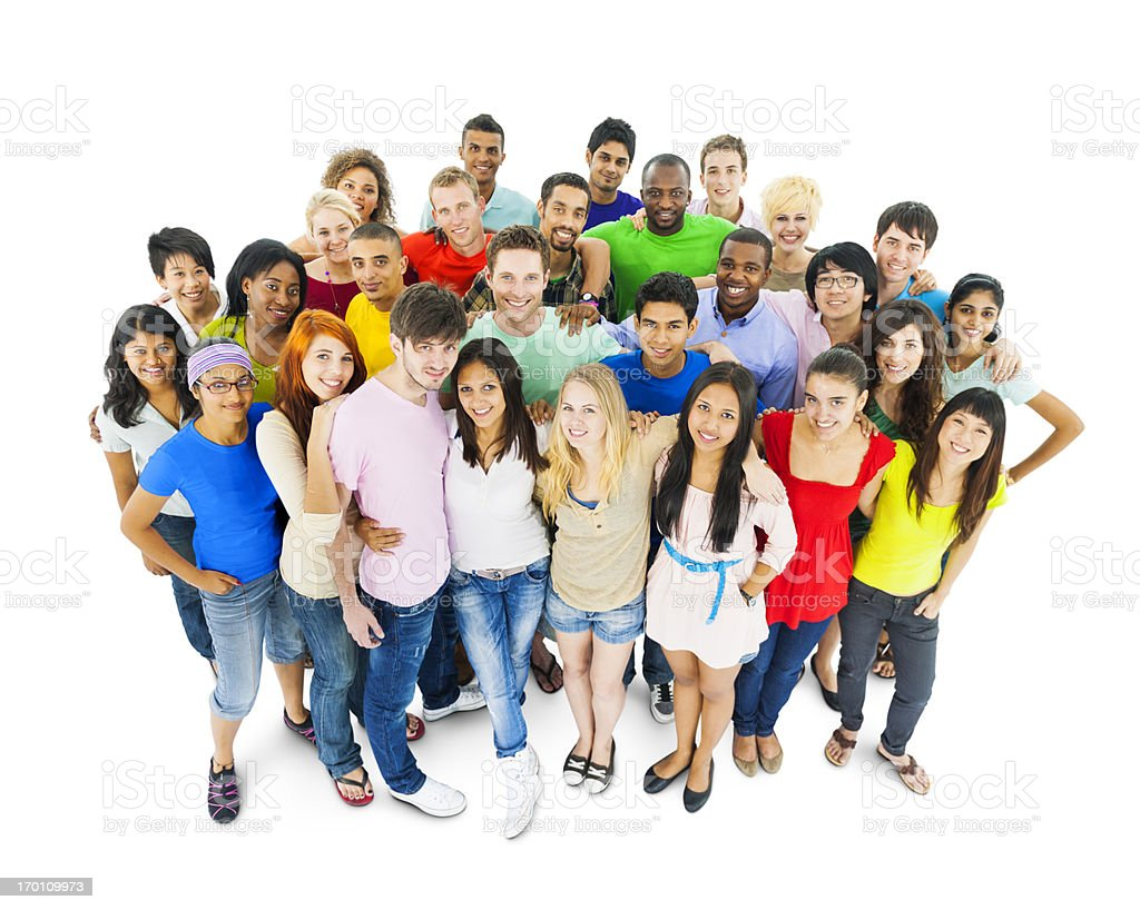 Multi-ethnic group of young adult royalty-free stock photo