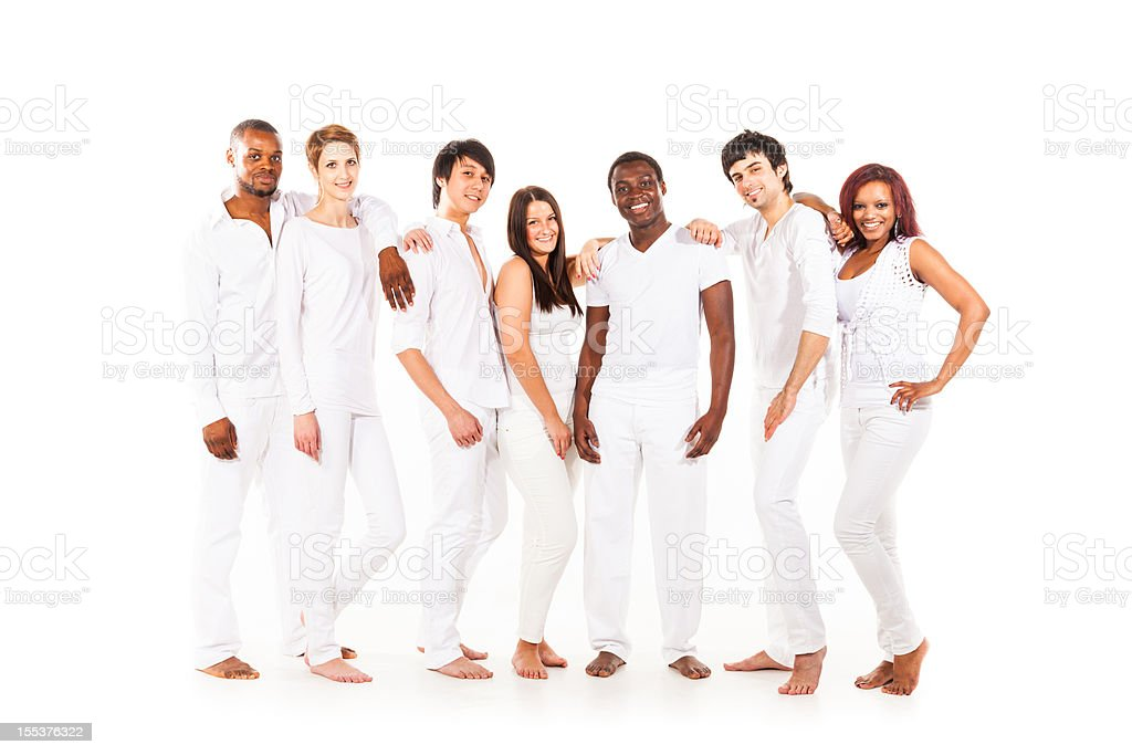 multi-ethnic group of young adults royalty-free stock photo