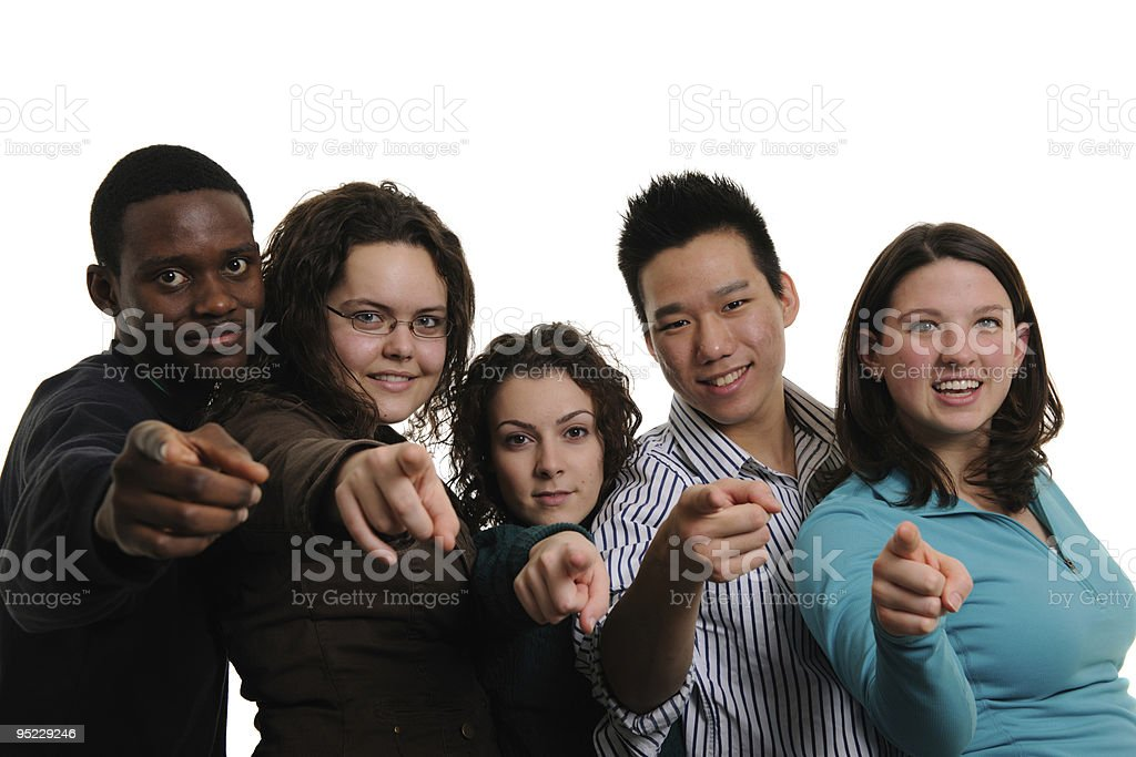 Multi-ethnic Group royalty-free stock photo
