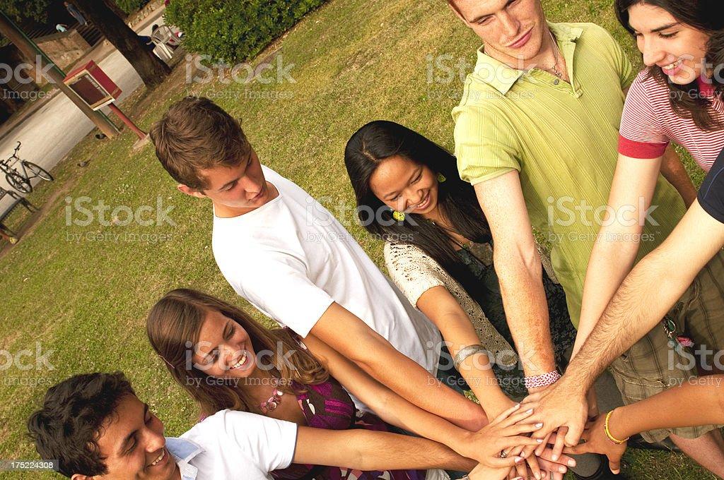 Multi-Ethnic Group Unity royalty-free stock photo